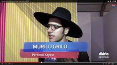 Chapeu aba grande + óculos lente redonda - Murilo Grilo  www.estiloman.com.br
