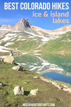 Looking for the best Colorado hikes? Head up the trail to Ice Lakes and Island Lake near Silverton for jaw-dropping reflections, wildflowers, and alpine scenery. Backpacking Trails, Hiking Tours, Hiking Trails, Colorado Hiking, Silverton Colorado, Colorado Mountains, Denver Colorado, Ice Lake, West Coast Trail