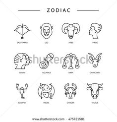 The Twelve Zodiac Signs Aries Taurus Gemini Cancer Leo Virgo