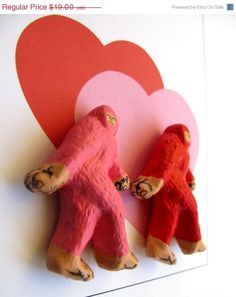 sasquatch pink and red @Etsy