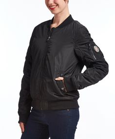 Loving this Madden Girl Black Pocket Bomber Jacket on #zulily! #zulilyfinds
