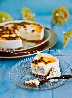#dairyfree Passionfruit Tofu Cheesecake #recipe #yum