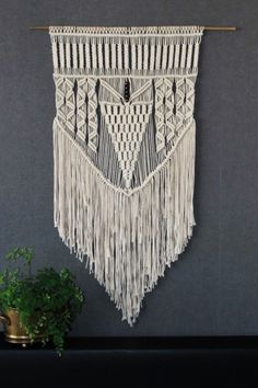 Macrame wall hanging, giant