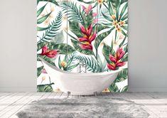 Glass wall - Bathroom Furniture Decor, Tapestry, Curtains, Shower, Bathroom, Glass, Wall, Prints, Design