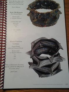 LaGrif Bijoux Geometrie e altre creazioni. Contemporary Geometric Beadwork by Kate McKinnon. Pag 123 my work Bracciale Pagoda. Design LaGrif. Handmade by LaGrif