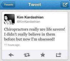 kim kardashian loves chiropractic