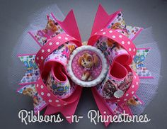 Paw Patrol Boutique Hair Bow Paw Patrol por RnRshairbowsandmore