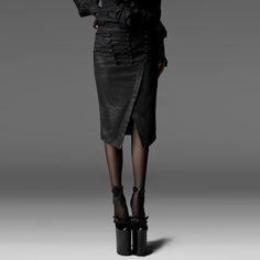 2016 Punk rave Retro Party Goth Victorian Womens Fashion Black Sexy TIGHT Skirt Q197 S-XXXL
