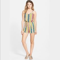Nordstrom Colorful Romper Soprano brand from Nordstrom. Colorful, bright print. Perfect Condition, never worn. NWOT. Nordstrom Other