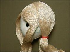 Как сделать кукле волосы. МК.. Обсуждение на LiveInternet - Российский Сервис Онлайн-Дневников