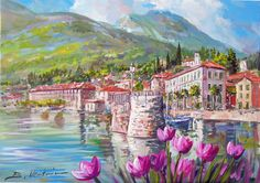 TETTAMANTI'S GALLERY: Dipinti ad olio Lago di Como/ Lake Como oil paintings