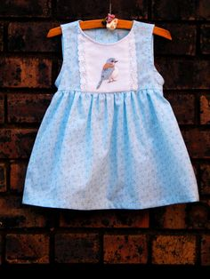 Dress for 1 year old  embroidered dress by Thedinkydoodlestudio