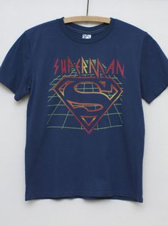 Kids Boys Superman Vintage Inspired Solid Tee - Kid's Boys Collections - Superheroes - All - Junk Food Clothing