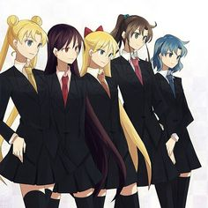Sailor Moon wow, what a change, they r finally not showing their entire bodies for once. What's up with this being a shoujo manga them being naked half the time? Maybe it should be really called yuri.