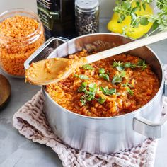 Linssibolognese | Meillä kotona Food N, Food And Drink, Pasta Recipes, Cooking Recipes, Vegetarian Recipes, Healthy Recipes, Healthy Food, Salty Foods, I Love Food