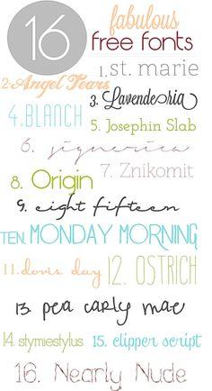 Fabulous free fonts