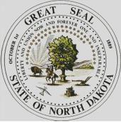 Cross Stitch Chart of the North Dakota State Seal