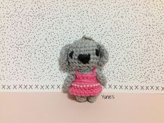 Crochet Koala Amigurumi Bag Charm key chain