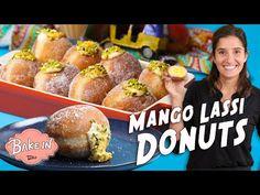 Mango Lassi, Donut Recipes, Pretzel Bites, Doughnut, Donuts, Mango Desserts, Muffin, Yummy Food, Baking