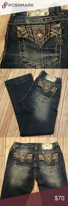 "Miss Me Jeans Like new mid rise easy relaxed fit Miss Me Jeans. Inseam is 28"" and the waist is 29"" Miss Me Jeans Boot Cut"