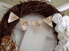 Gorgeous, Fall Ombre Rosette Wreath
