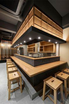 Japanese Restaurant Interior, Japanese Interior, Restaurant Interior Design, Coffee Shop Interior Design, Coffee Shop Design, Cafe Design, Sushi Bar Design, Store Concept, Deco Restaurant
