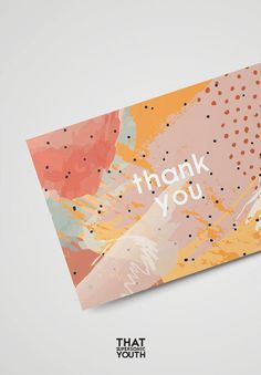 Printable Thank You Card, Wedding Thank You Note, Abstract Illustration, Watercolour Style, Place Se Design Poster, Print Design, Web Design, Wedding Thank You, Wedding Cards, Design Typography, Lettering, Packaging Design, Branding Design