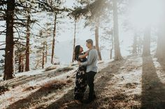 LOS ANGELES | ANGELES NATIONAL FOREST ENGAGEMENT SESSION | forest, mountain photo shoot, mountain engagement shoot, golden hour, sunset couple, long floral dress, la engagement, adventurous couple, camping hiking engagement photos, california wedding photography