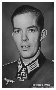 ✠ Harald von Hirschfeld (10 July 1912 – 18 January 1945) Severely injured in an aerial attack at the Dukla Pass and died en route to the field hospital. RK 15.11.1941 Oberleutnant Chef 7./Geb.Jäg.Rgt 98 1. Gebirgs – Division [164. EL] 23.12.1942 Hauptmann Führer II./Geb.Jäg.Rgt 98 1. Gebirgs – Division