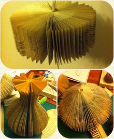 Upcycled some books on the weekend! A paper vase, spinning top and wheel! check it out..book art and sculpture