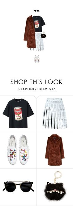 """040317"" by y1232189 ❤ liked on Polyvore featuring Uniqlo, Moschino, Joshua's and Kate Spade"