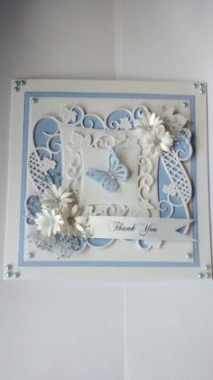 Bluey 1 Sue Wilson, Craft Cards, Die Cut Cards, Die Cutting, Thank You Cards, Cardmaking, Scrap, Crafting, Inspirational
