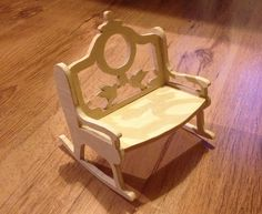 Miniature rocking bench I made with my scroll saw
