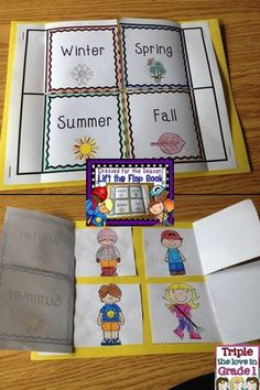 Interactive Notebook, for lap books, Weather for kids. Dress for the season lift the flap book!