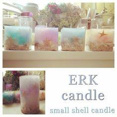 カラフル(o^^o) 1番小さいサイズのもの(*^^*)♡あえて気泡をたくさん出して作ったけど、私はこっちの方が好きやったり♡笑 ミニサイズ可愛い♡ #キャンドル #candle #貝殻 #shellcandle #シェルキャンドル #気泡 #カラフル #夏 #海 #beach #SUMMER #ミニサイズ #可愛い #スターフィッシュ #ERKcandle
