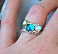 Modern take on a mother's ring