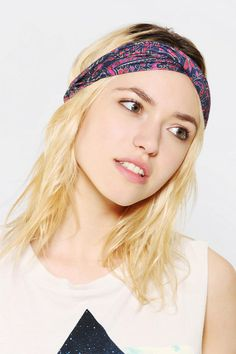 Woodblock Print Headwrap #urbanoutfitters