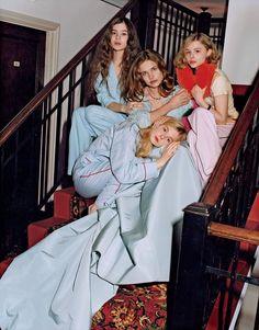 Hailee Steinfield, Natalia Vodianova, Chloe Mortez, Elle Fanning, Vogue, Actresses, 2011. #girls #inspiration #AmericanApparel