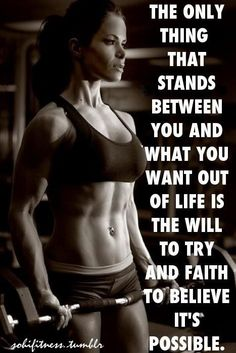 the only thing that stands between you and.... - #fitness #fitspiration