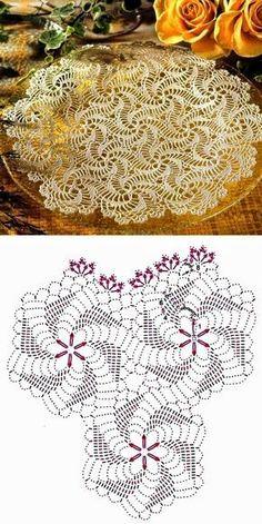 Handmade White Crochet Doily, Oval Crochet Tablecloth, Crochet Home Decor Table Decorations, C Crochet Doily Diagram, Crochet Doily Patterns, Crochet Chart, Crochet Squares, Thread Crochet, Crochet Stitches, Spiral Crochet, Crochet Dollies, Crochet Flowers