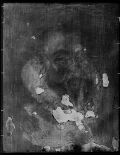 X-ray image of the portrait of Sir Francis Walsingham