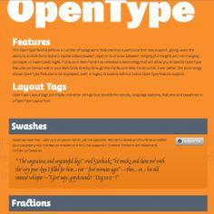 Web Design: Monotype