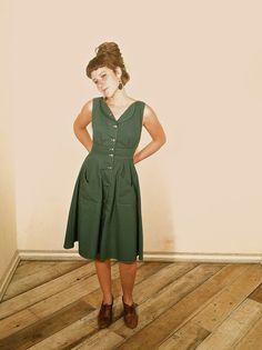 Green Sheet Dress by fieldday on Etsy