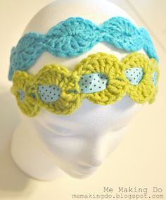 Free Crochet Happy Circles Headband Pattern from Me Making Do I have to try this make a wider one for ear warmers