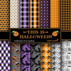 14 Halloween Digital Papers Pack. paper by CLIPARTGARDEN on Etsy  https://www.etsy.com/listing/109796158/14-halloween-digital-papers-pack-paper?ref=shop_home_active_18