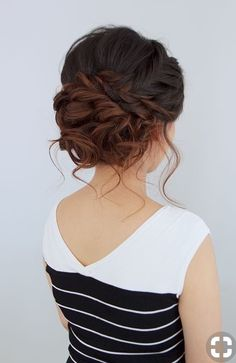 These Gorgeous Updo Hairstyle That You'll Love To Try! Whether a classic chignon, textured updo or a chic wedding updo with a beautiful details. These wedding updos are perfect for any bride looking for a unique wedding hairstyles… Medium Hair Styles, Short Hair Styles, Medium Hairs, Updo Styles, Medium Hair Wedding Styles, Loose Braids, Updos With Braids, Loose Updo, Bridal Hair Updo Loose