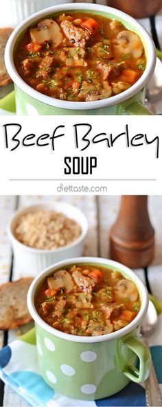 Beef Barley Soup - easy and healthy meal, rich in flavor of beef, vegetables and seasonings