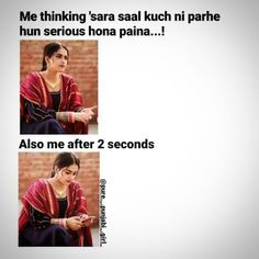 Funny Girl Quotes, Crazy Funny Memes, Funny Jokes, Funny Girls, Punjabi Attitude Quotes, Punjabi Quotes, Punjabi Memes, Laughter Quotes, Love Puns
