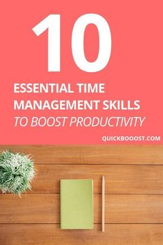 Time Management Skills: 10 Essentials To Boost Your Productivity Take your time management skills to the next level! Use these time management tips to get more done, boost your productivity, and better manage your time. Time Management Activities, Time Management Printable, Time Management Planner, Time Management Quotes, Time Management Tools, Time Management Strategies, High School Activities, Activities For Teens, Productive Things To Do