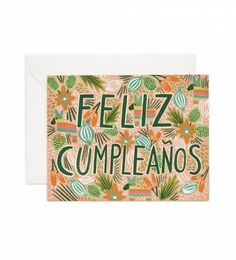 Rifle Paper Co. - Feliz Cumpleaños - Available As A Single Folded Card Or Boxed Set Of 8